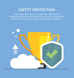 Safety protection concept the best vector