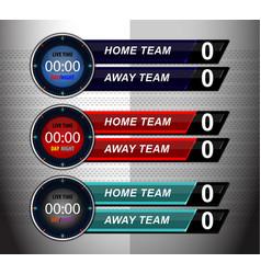 Scoreboard timer template vector
