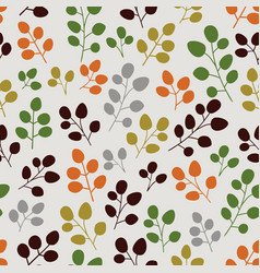 seamless pattern with leaf botanical backdrop vector image