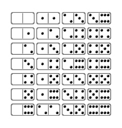 Set of domino icons objects symbols for games vector