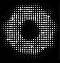 Silver disco lights background golden vector