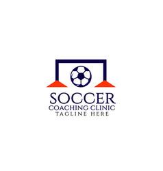 Soccer coaching clinic template design vector