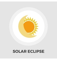 Solar eclipse flat icon vector