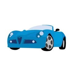 Sport car blue vector