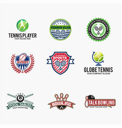 sports logo badges 1 vector image