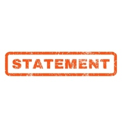 Statement Rubber Stamp vector image
