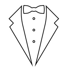 symbol service dinner jacket bow tuxedo concept vector image