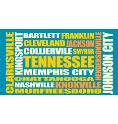 Tennessee state cities list vector
