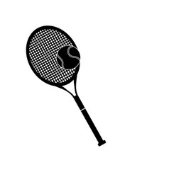 Tennis racket and ball sport design pictogram vector