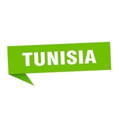 Tunisia sticker green tunisia signpost pointer vector