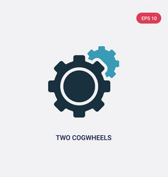 Two color two cogwheels icon from mechanicons vector