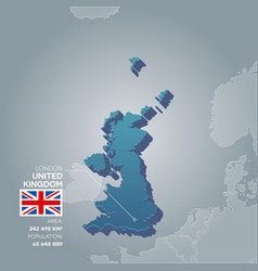 united kingdom information map vector image