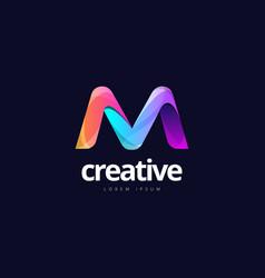 Vibrant trendy colorful creative letter m logo vector