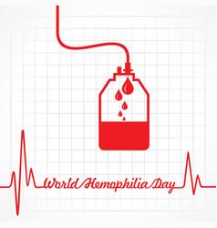 world hemophilia day greeting vector image