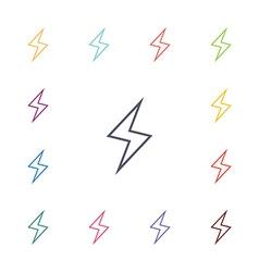 lightning flat icons set vector image vector image