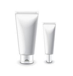 White cosmetic tubes for cream isolated vector image vector image