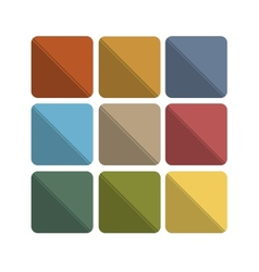 Colorful abstract flat icon backgrounds vector image vector image