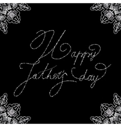Elegant design of card for Fathers day vector image vector image