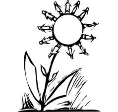 Human Flower vector image vector image