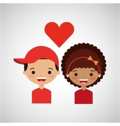 loving couple design vector image