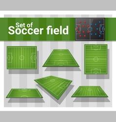 Set of football field vector image