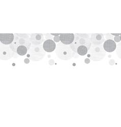 Silver Grey Circles Dots Horizontal vector image vector image