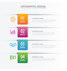 business index infographics template with 4 data vector image