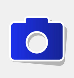 digital camera sign new year bluish icon vector image