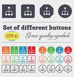 social network icon sign Big set of colorful vector image
