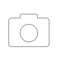 digital camera sign black dashed icon on vector image vector image