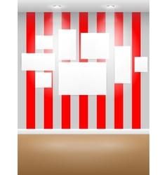 Gallery Interior vector image