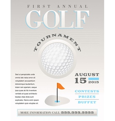 Golf Flyer vector image vector image