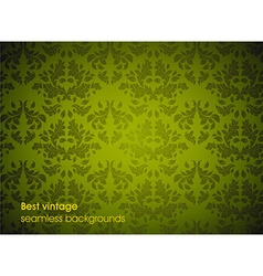 Green Seamless Floral Background vector image