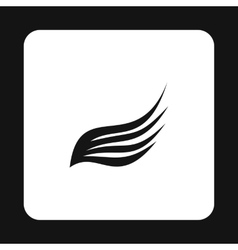 Long wing icon simple style vector image vector image