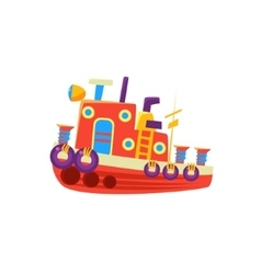 Steamer Fishing Toy Boat vector image