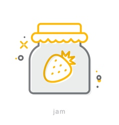 Thin line icons Jam vector image