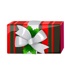 A gift box is placed vector image