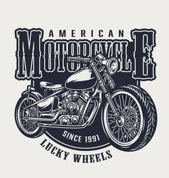 American motorcycle vintage emblem vector