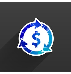 Arrow and money version is also available vector