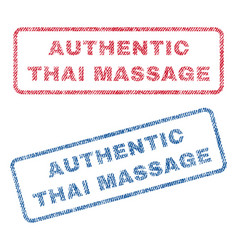 authentic thai massage textile stamps vector image