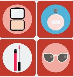 Beauty icon set vector