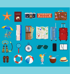 big travel set vector image
