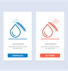 Bleeding blood cut injury wound blue and red vector