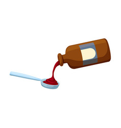 bottle syrup iconcartoon icon vector image