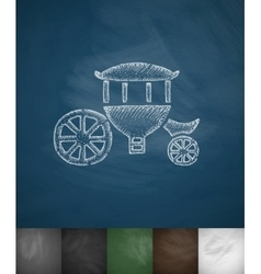 brougham icon Hand drawn vector image