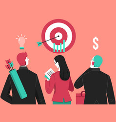 business target archer vector image