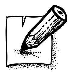 Cartoon image of edit icon edit symbol vector