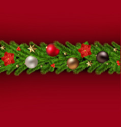 christmas garland poster vector image