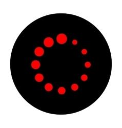 Circular loading sign vector image