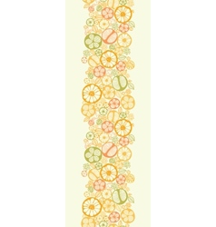 Citrus slices vertical seamless pattern background vector image